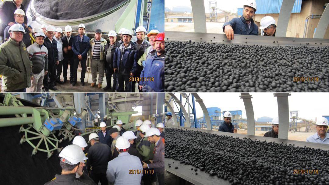 تولید گندله خام اولیه در شرکت صنعتی و معدنی توسعه فراگیر سناباد
